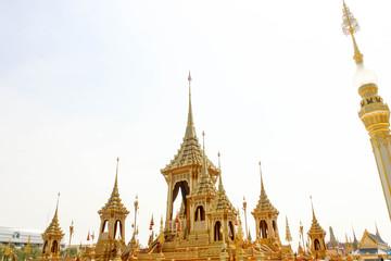 Bangkok, Thailand - November 04, 2017; Beautiful of The Royal Crematorium for HM the late King Bhumibol Adulyadej  at November 04, 2017