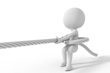 綱を引く人物