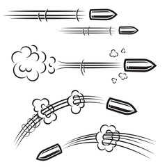 Set of comic style bullet action effects . Design element for poster, card, banner, flyer.