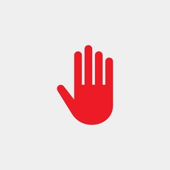 Stop vector sign. Prohibiting flat vector icon