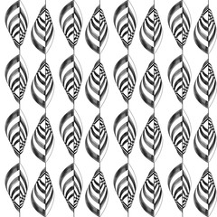 cascata di foglie verticale in bianco e nero