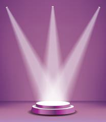 podium purple three spots
