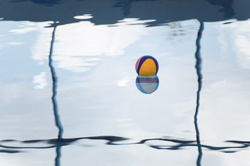 water polo ball on water background