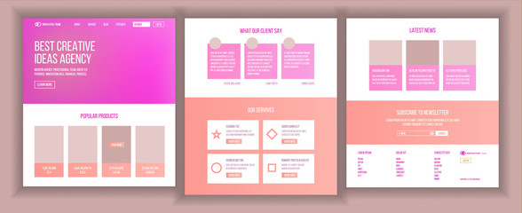 Main Web Page Design Vector. Website Business Style. Landing Template. Abstract Project Cover. Idea Structure. Introduction Team. Innovation Cyberspace. Illustration