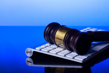 Workspace hero header with law gavel