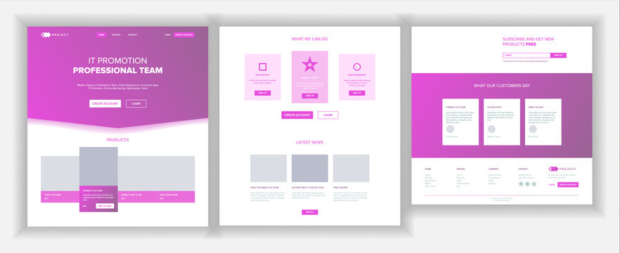 Website Page Vector. Business Agency. Web Page. Landing Design Template. Network Connection. Digital Developer. Cryptography Farm. Application Newspaper. Illustration