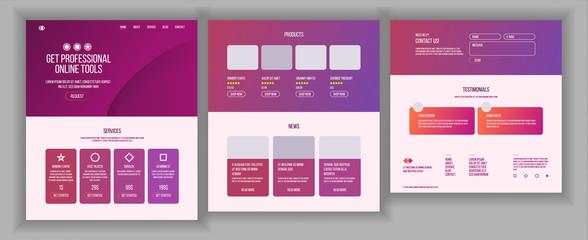 Web Page Design Vector. Website Business Style. Front End Site Scheme. Landing Template. Benefits Scheme. Interface Menu. Card Credit. Illustration
