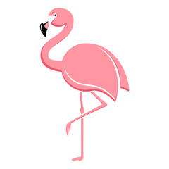 Flamingo stehend - flamingo vector illustration