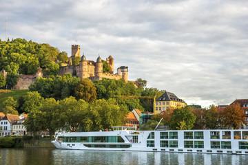 Wertheim, Main und Burg Wertheim  Fototapete