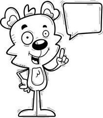Cartoon Male Bear Talking