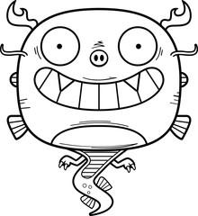 Happy Cartoon Chinese Dragon