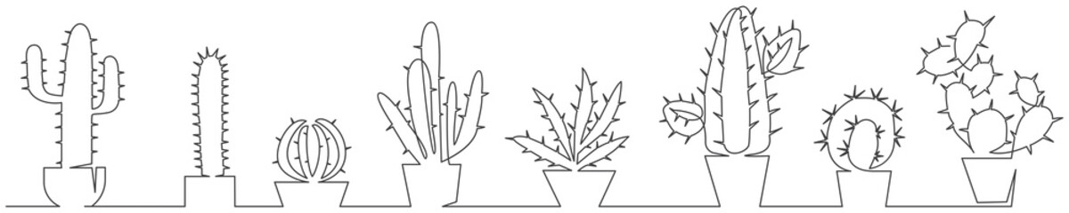 Cactus one line set