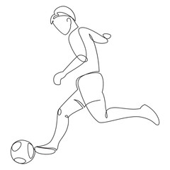 Soccer player in one line