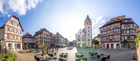 Mosbach, Marktplatz und Rathaus