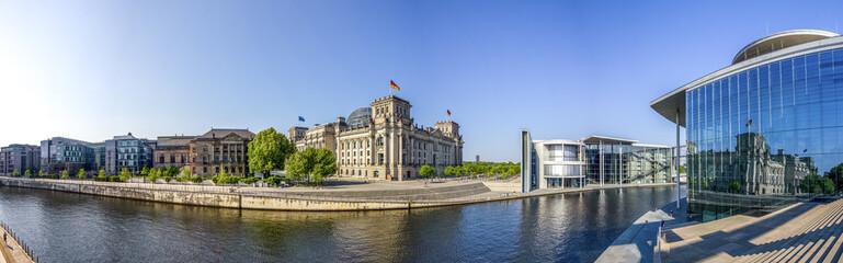 Foto op Canvas Berlijn Berlin, Reichstag, Spree, Panorama