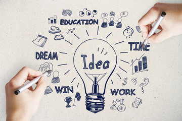 Idea, innovation and startup concept