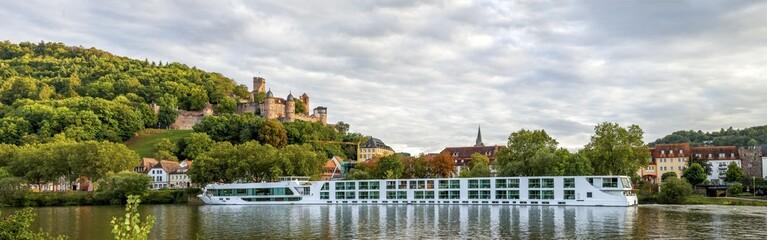 Wertheim, Panorama mit Burg Wertheim  Fototapete