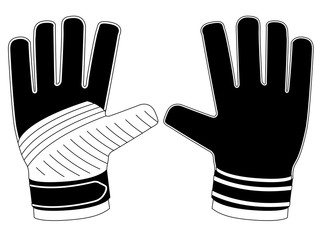 Isolated goalkeeper gloves icon
