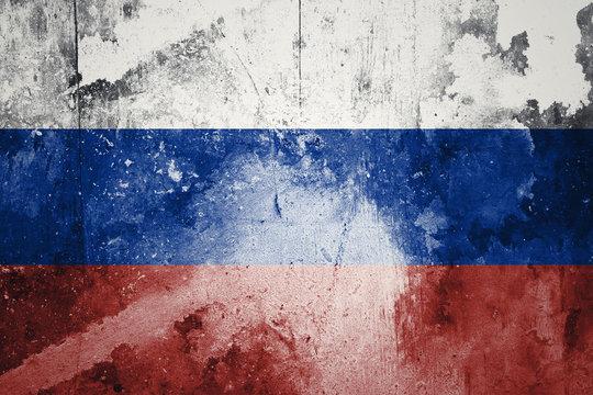 Russia vintage grunge flag
