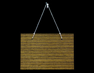 Labels are made of wood panels, colors and natural textures, wit