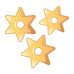 Star pasta icon. Cartoon of star pasta vector icon for web design isolated on white background