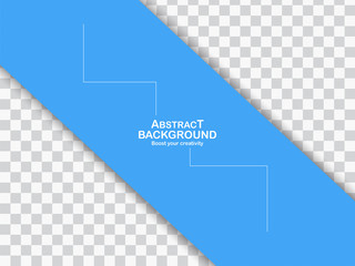 Blue background with curve shape and copy space. Vector design for template, presentation, cover and web banner.