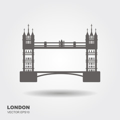 London Bridge Logo. Attraction of the capital of England