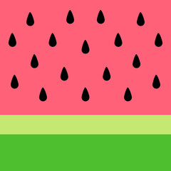 Watermelon vector background. Summer watermelon simple graphic background for banner, card or poster.