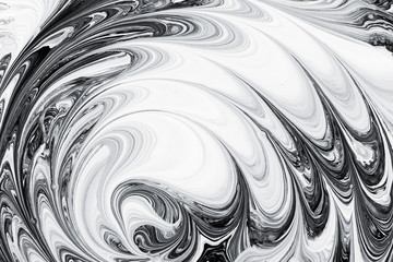abstract background pattern texture, white and black marble painting on water