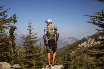 Hiker on lycian way