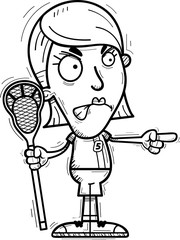 Angry Cartoon Lacrosse Player
