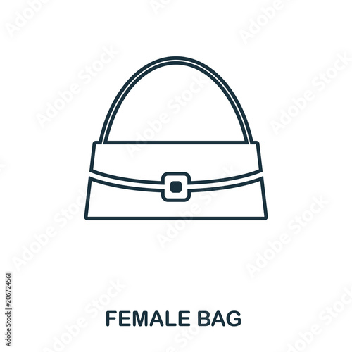 Female Bag icon  Flat style icon design  UI  Illustration of