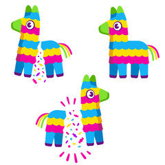 Cartoon pinata drawing set