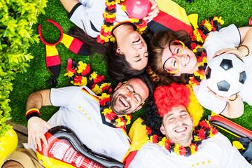 Deutsche Fussball Fans im WM Fieber