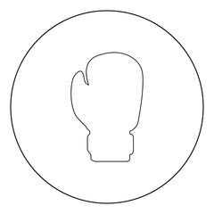 Boxing glove icon black color in circle