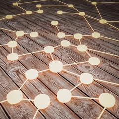 Connection concept 3d rendering