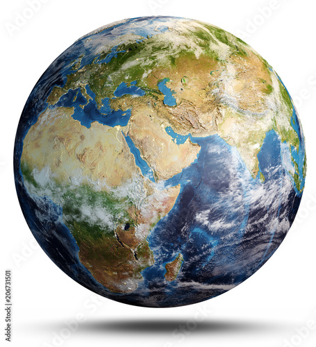 Wall mural Planet Earth from space. 3d rendering
