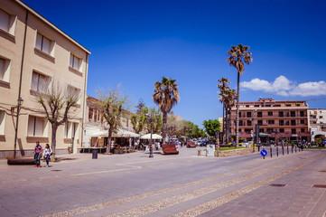 Foto auf Leinwand Buenos Aires pedestrian area on the ramparts of Alghero - Sardinia