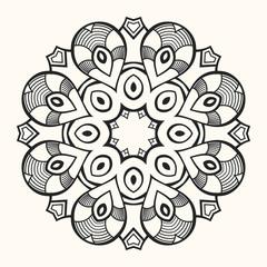 Mandala. Creative circular ornament.