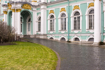 A view of Hermitage Museum, St.Petersburg. One of the largest and most significant art and history museums in Russia