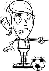 Angry Cartoon Soccer Player
