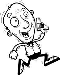Cartoon Senior Spy Running
