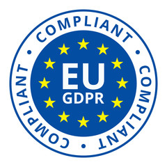 EU GDPR Compliant label illustration