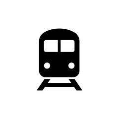 Train icon in flat style