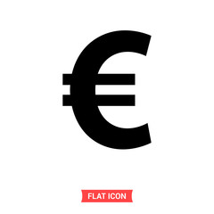 Euro vector icon, money symbol. Simple illustration for web or mobile app