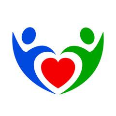 Volunteer icon, love - stock vector