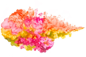 Color Explosion. Colourful ink in water. Rainbow of colors