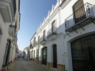 Moguer, localidad de Huelva en la comunidad autónoma de Andalucía (España) ciudad natal del poeta Juan Ramón Jiménez