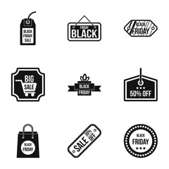 Sale icons set. Simple illustration of 9 sale vector icons for web