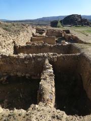 Bílbilis, ciudad prerromana y romana de la península ibérica situada a orillas del río Jalón, en la localidad de Huérmeda, a escasos kilómetros de Calatayud en Aragon (España)